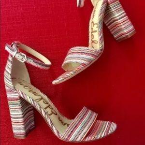 New Sam Edelman Yaro Striped Sandal $130 Sz 10.5